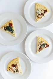 Cauliflower Crust Pizza (Gluten Free) // www.WithTheGrains.com