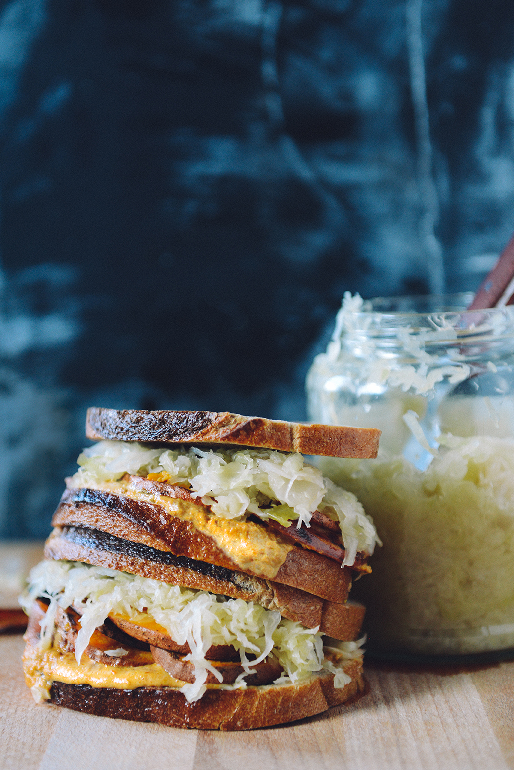 Sweet Potato Reuben (Vegetarian w/ Vegan Option) // www.WIthTheGrains.com