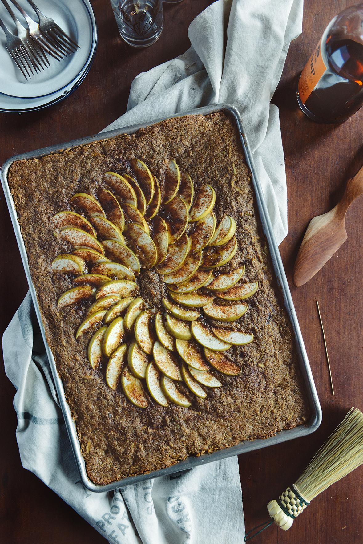 Whole Grain Apple Chai Sheet Cake