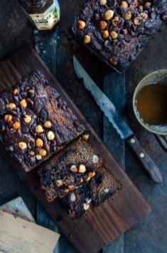 Whole Grain Chocolate Hazelnut Swirl Banana Bread featuring Nocciolata // www.WithTheGrains.com