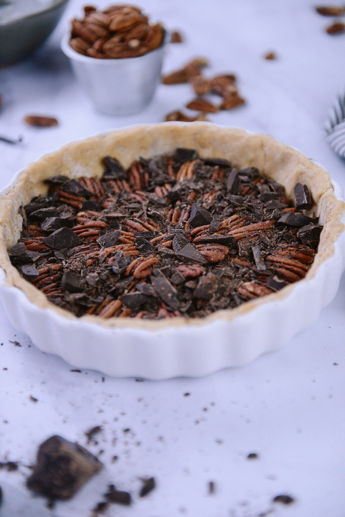Whole Grain Chocolate Pecan Tart with Bourbon Whipped ...