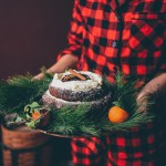 Fallen Chocolate Peppermint Cake with Whipped Topping (Gluten Free)