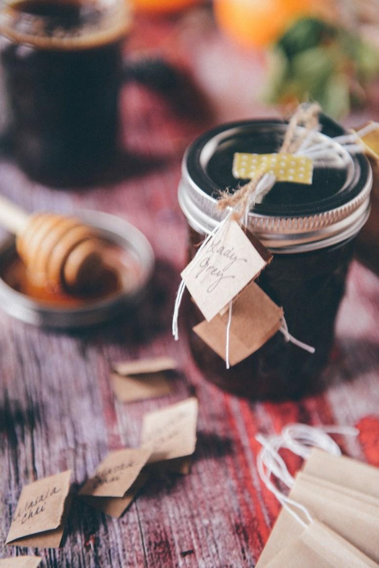 Edible Gift Idea: Local Honey & Winter Tea Sets