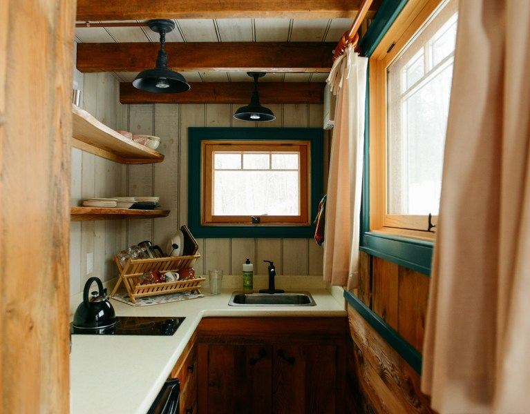"""A Tour of """"MoonShine,"""" A Tiny House Cabin at Blue Moon Rising Campground"""