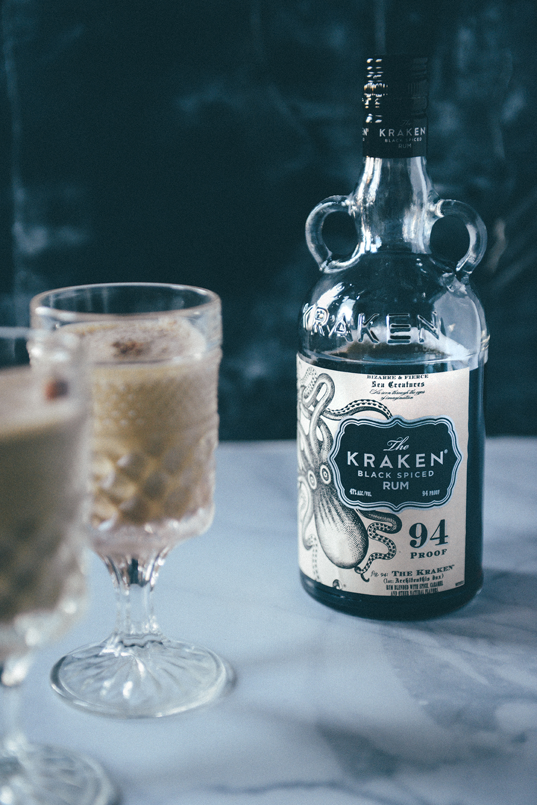 Rum Spiked Eggnog // www.WithTheGrains.com