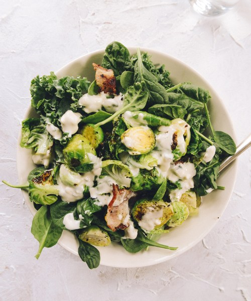 Homemade Bleu Cheese Dressing // www.WithTheGrains.com