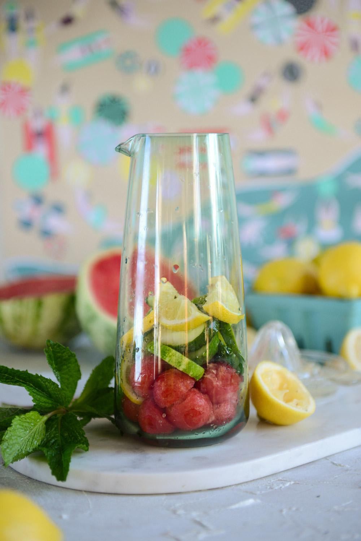 Watermelon Salad, Watermelon Lemonade and a Watermelon Treat for Pups // www.WithTheGrains.com