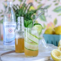 Sparkling Cucumber Mint Lemonade (A Healthy Soda Alternative)