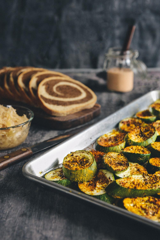 Homemade Thousand Island Dressing for Vegetarian Zucchini Reubens // www.WithTheGrains.com