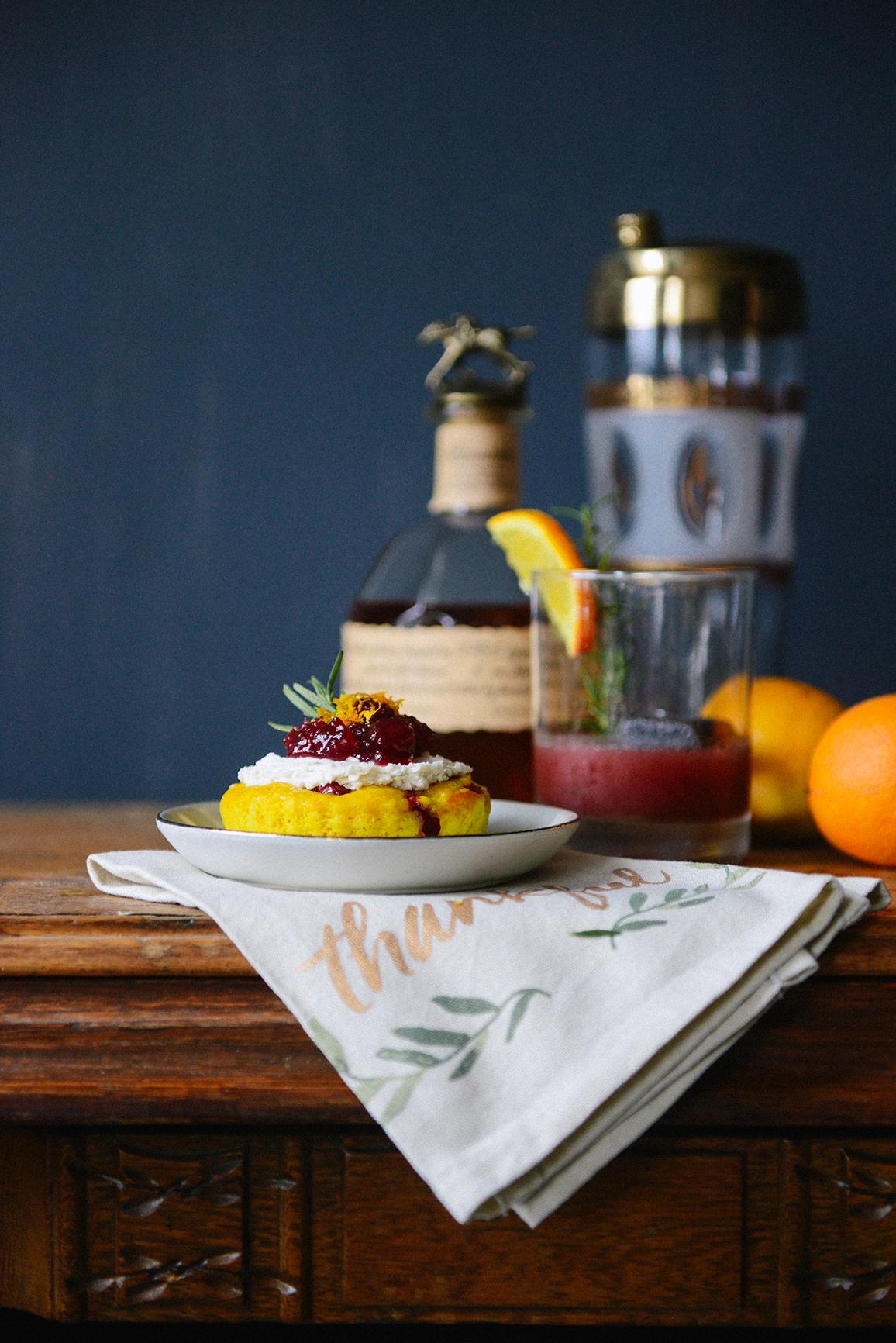 Leftover Cranberry Sauce Cocktails & Cake Garnishes