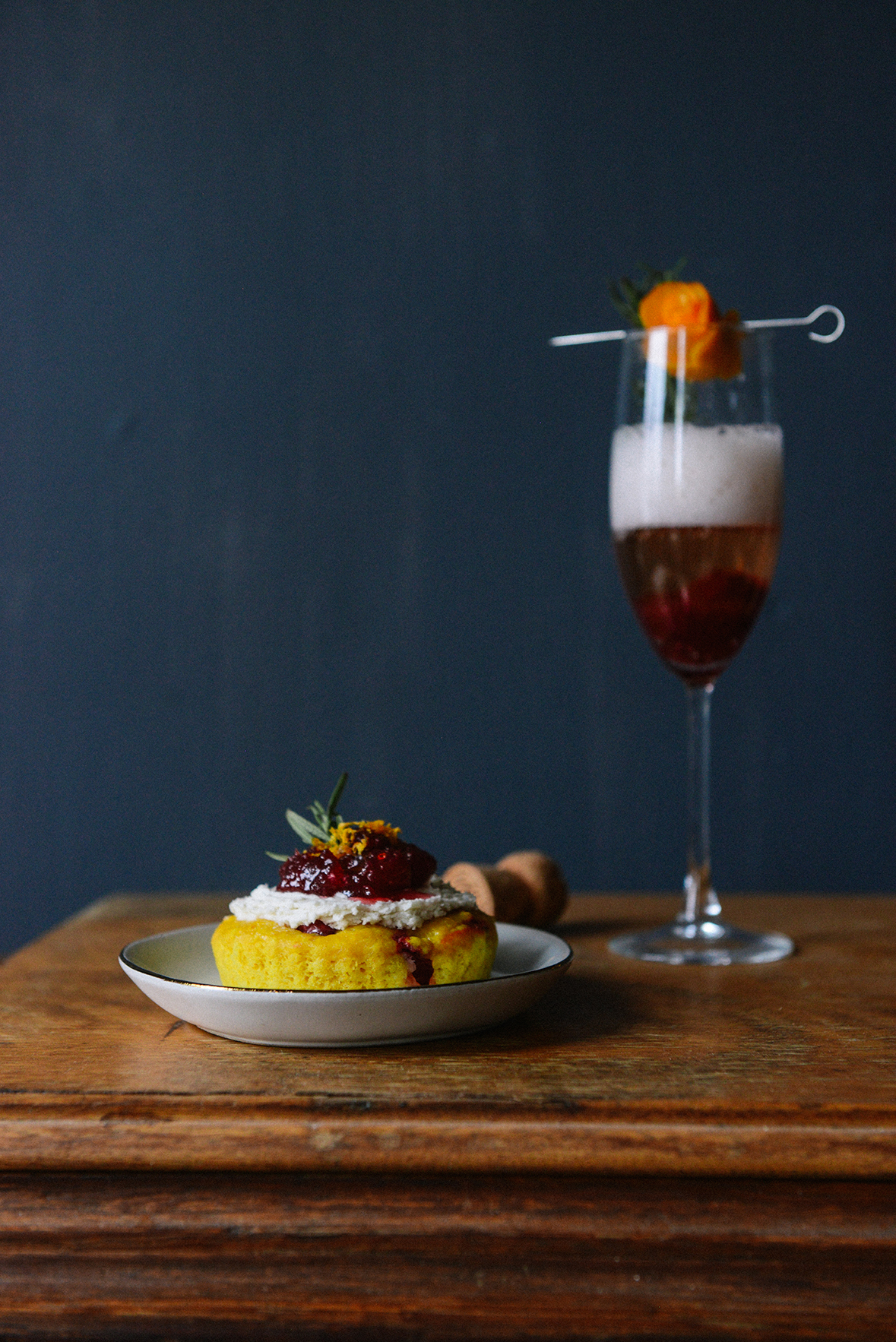 Turn Leftover Cranberry Sauce into Cocktails and Cake Garnishes // www.WithTheGrains.com