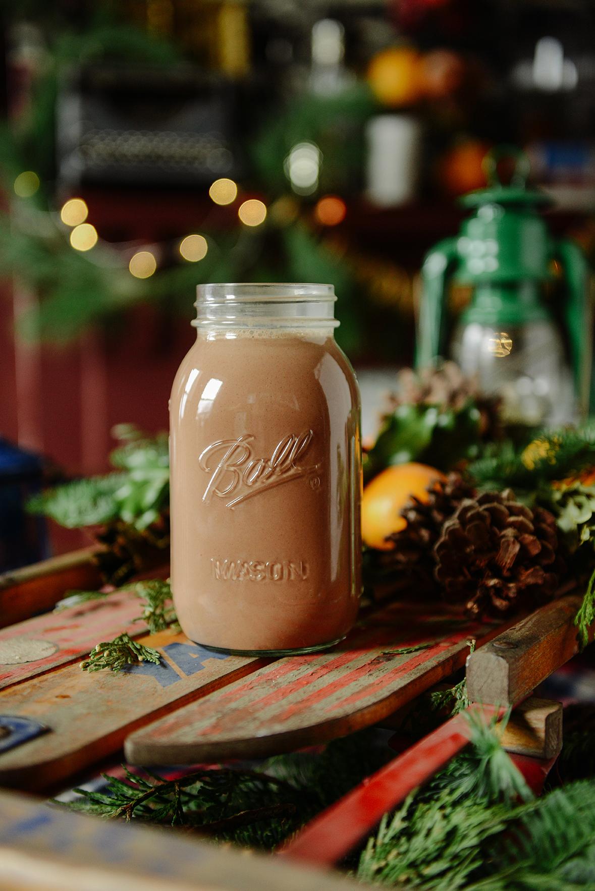 Peppermint Hot Chocolate (Vegan) // www.WithTheGrains.com