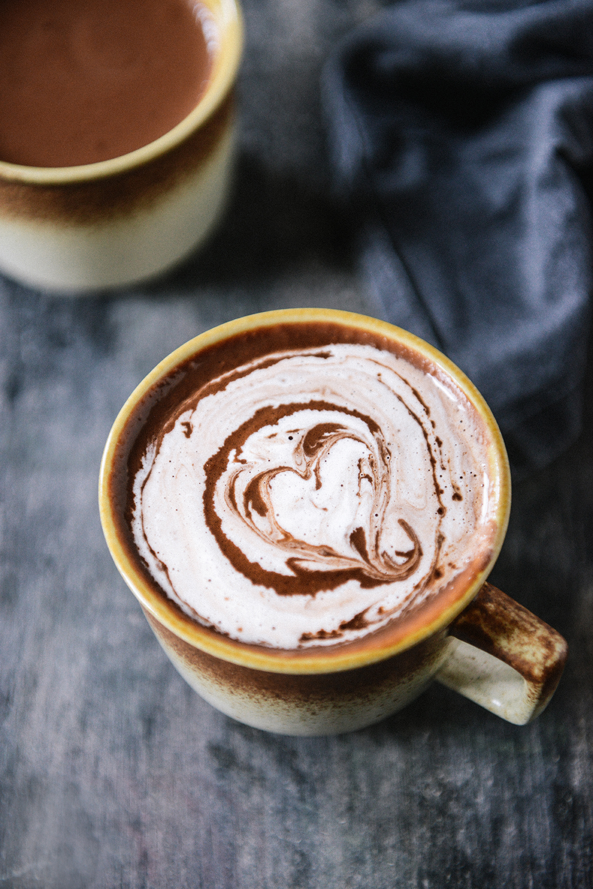 Dark Chocolate Atole {Vegan Sipping Chocolate} // www.WithTheGrains.com