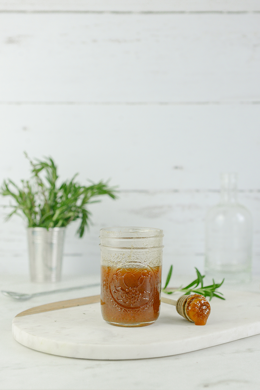Rosemary Honey Mocktail // www.WithTheGrains.com