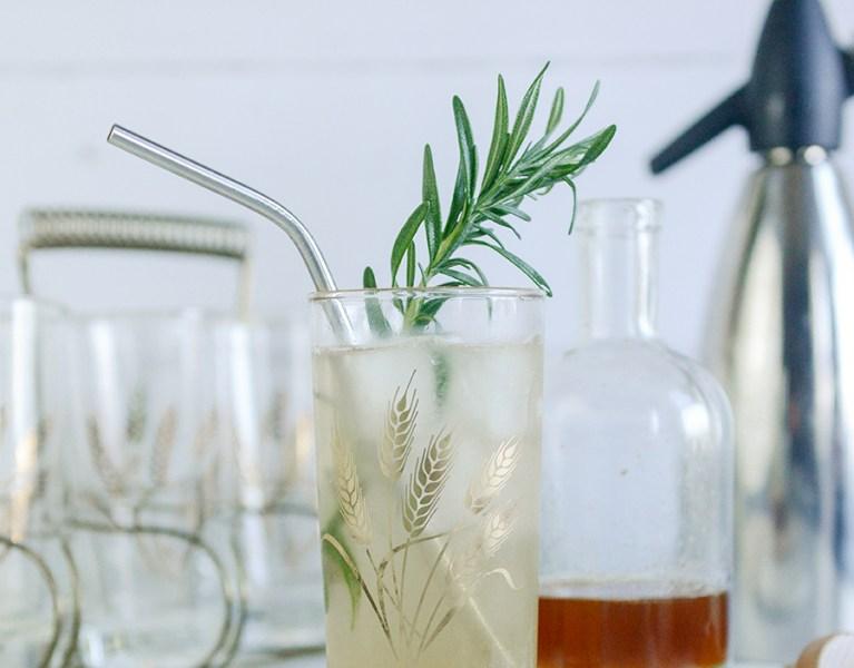 Rosemary Honey Mocktail and Soda Alternative