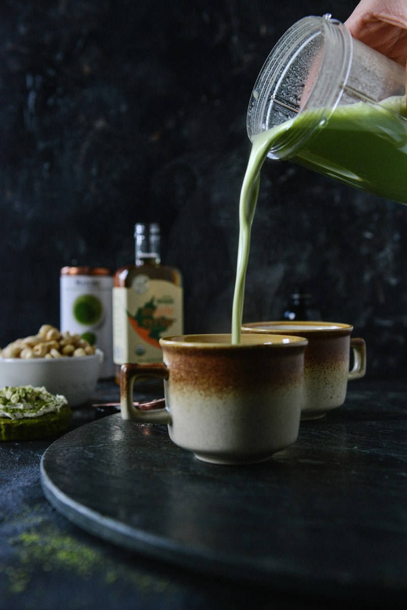 Coffee Shop Style Matcha Lattes with a Healthy Twist {Vegan}