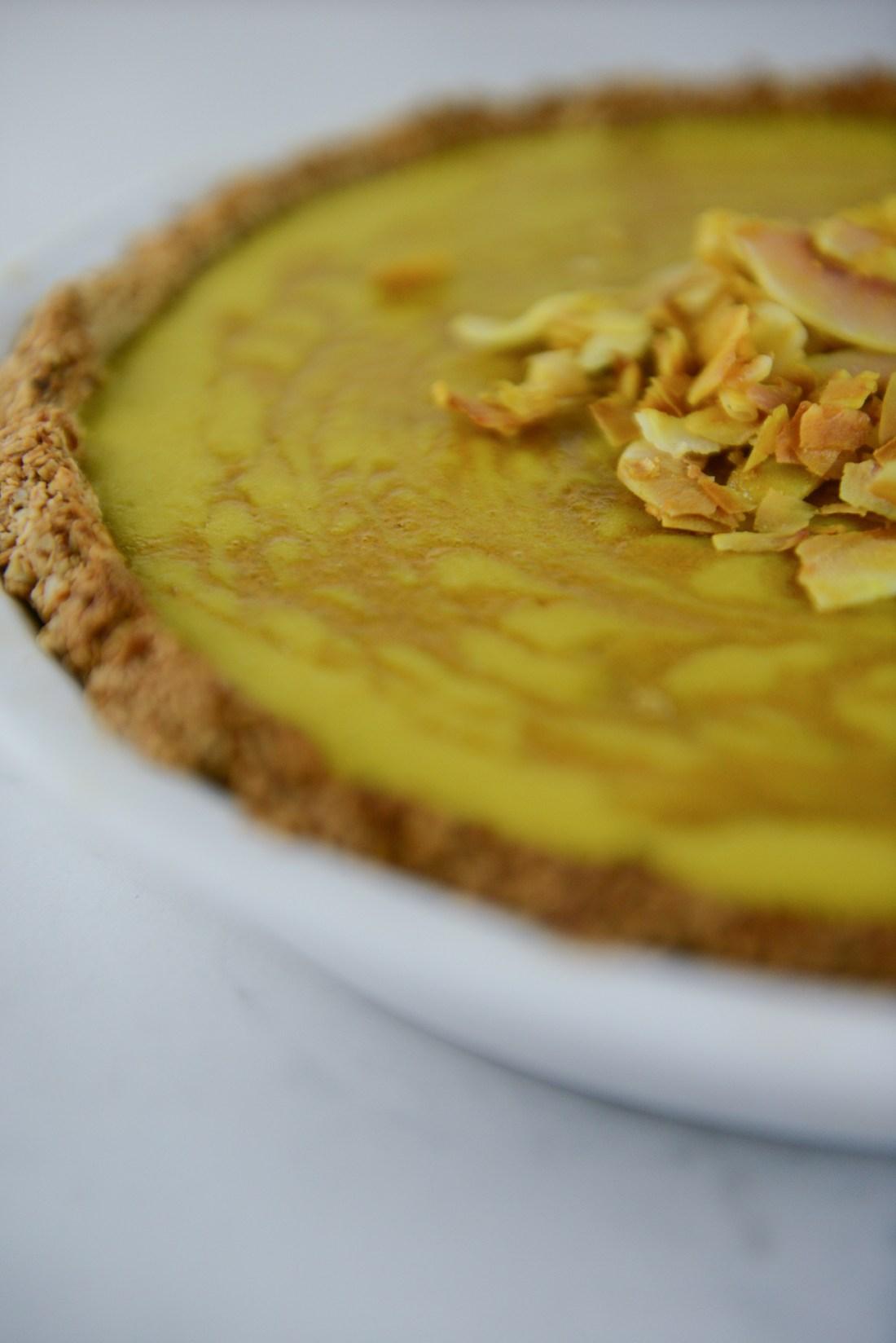 Turmeric Pie with a Gluten Free Crust // www.WithTheGrains.com