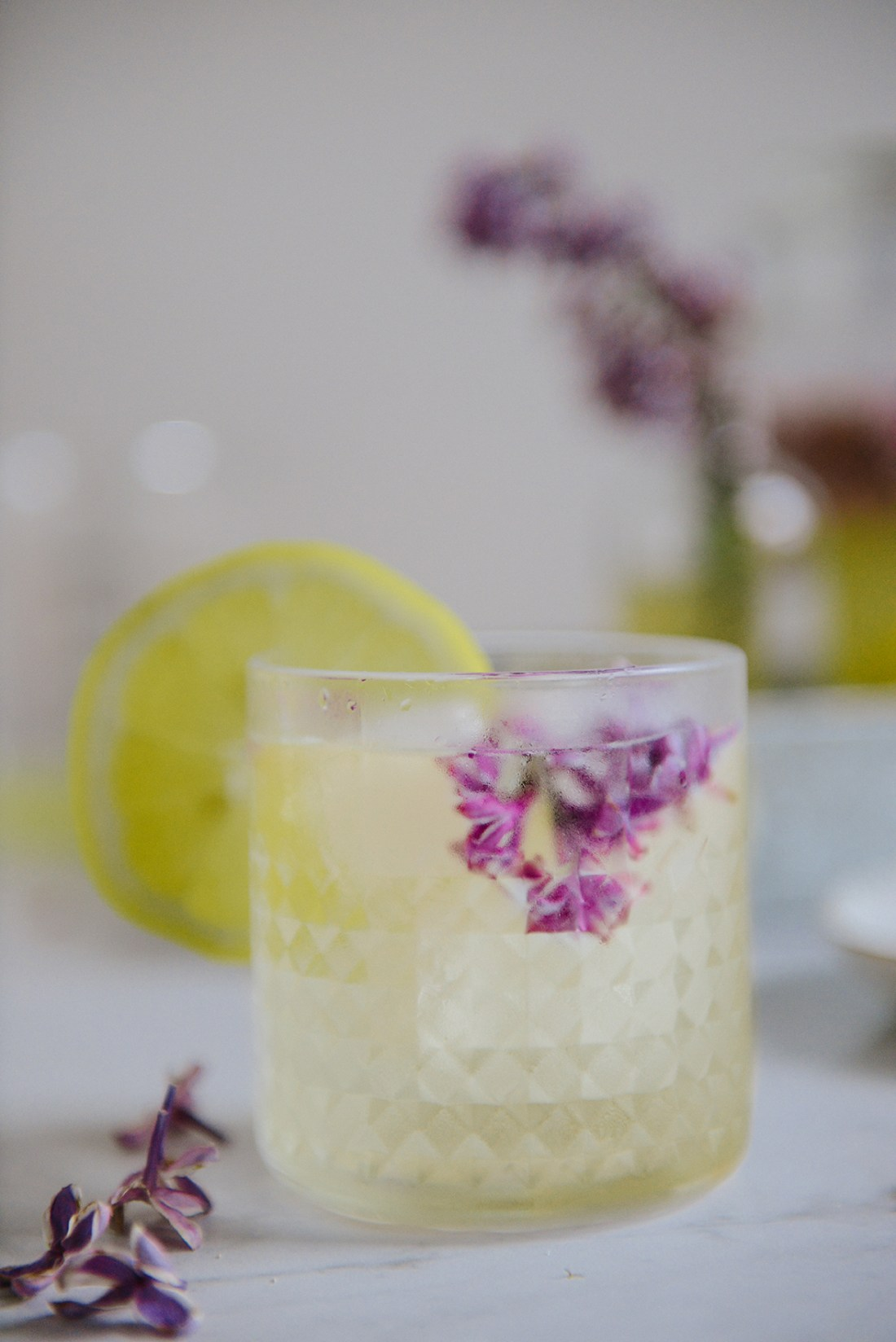 Fermented Honey Lilac Drink for Allergy Season // www.WithTheGrains.com