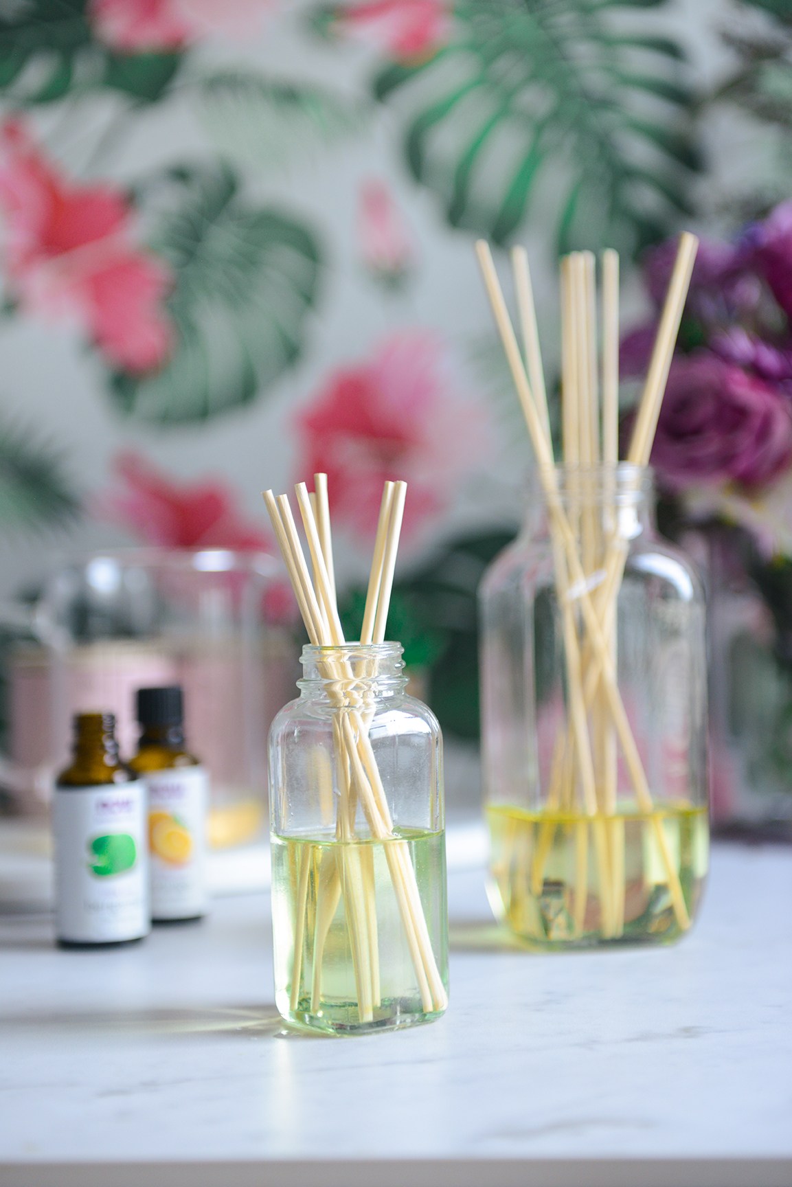 DIY Essential Oil Diffuser for a Spring Refresh // www.WithTheGrains.com