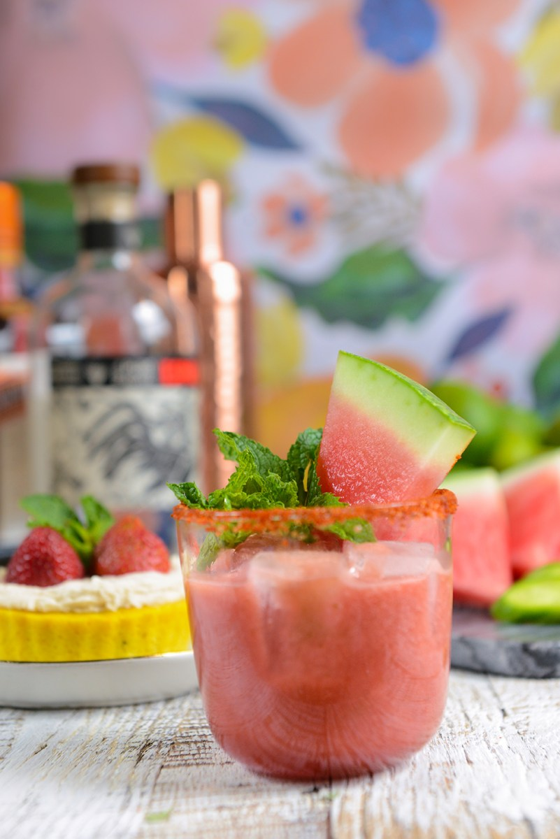Cucumber Watermelon Margaritas for a Summery Happy Hour