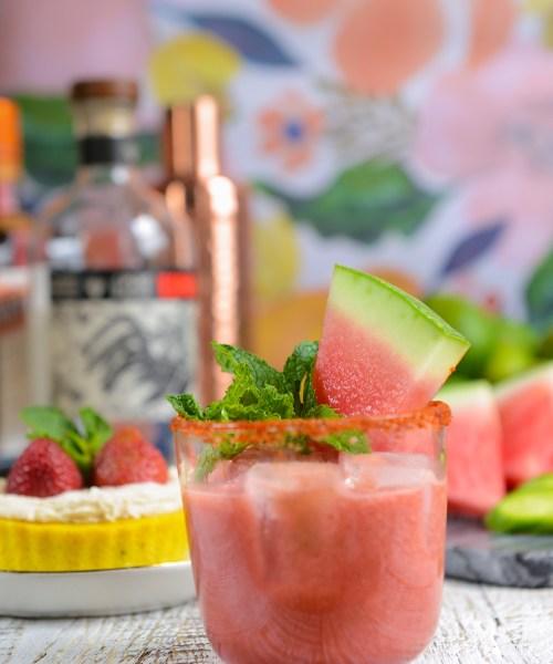 Cucumber Watermelon Margaritas // www.WithTheGrains.com