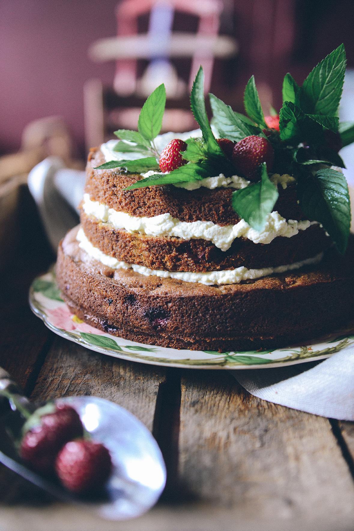 Gluten Free Rhubarb Cake for the Rustbelt Farmer's Birthday // www.WithTheGrains.com