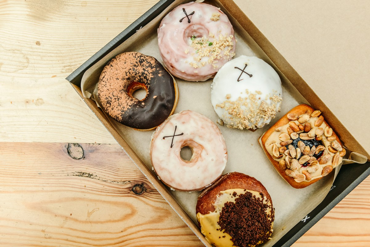 Happy #NationalDoughnutDay via London's Spitalfields Market // www.WithTheGrains.com