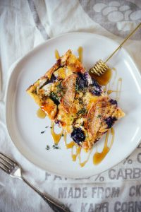 Baked Brioche French Toast for a Summer Brunch // www.WithTheGrains.com