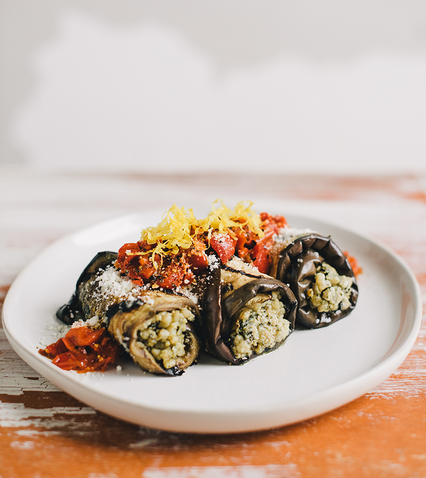 Gluten-Free Eggplant Rollatini from The Gluten-Free Grains Cookbook // www.WithTheGrains.com