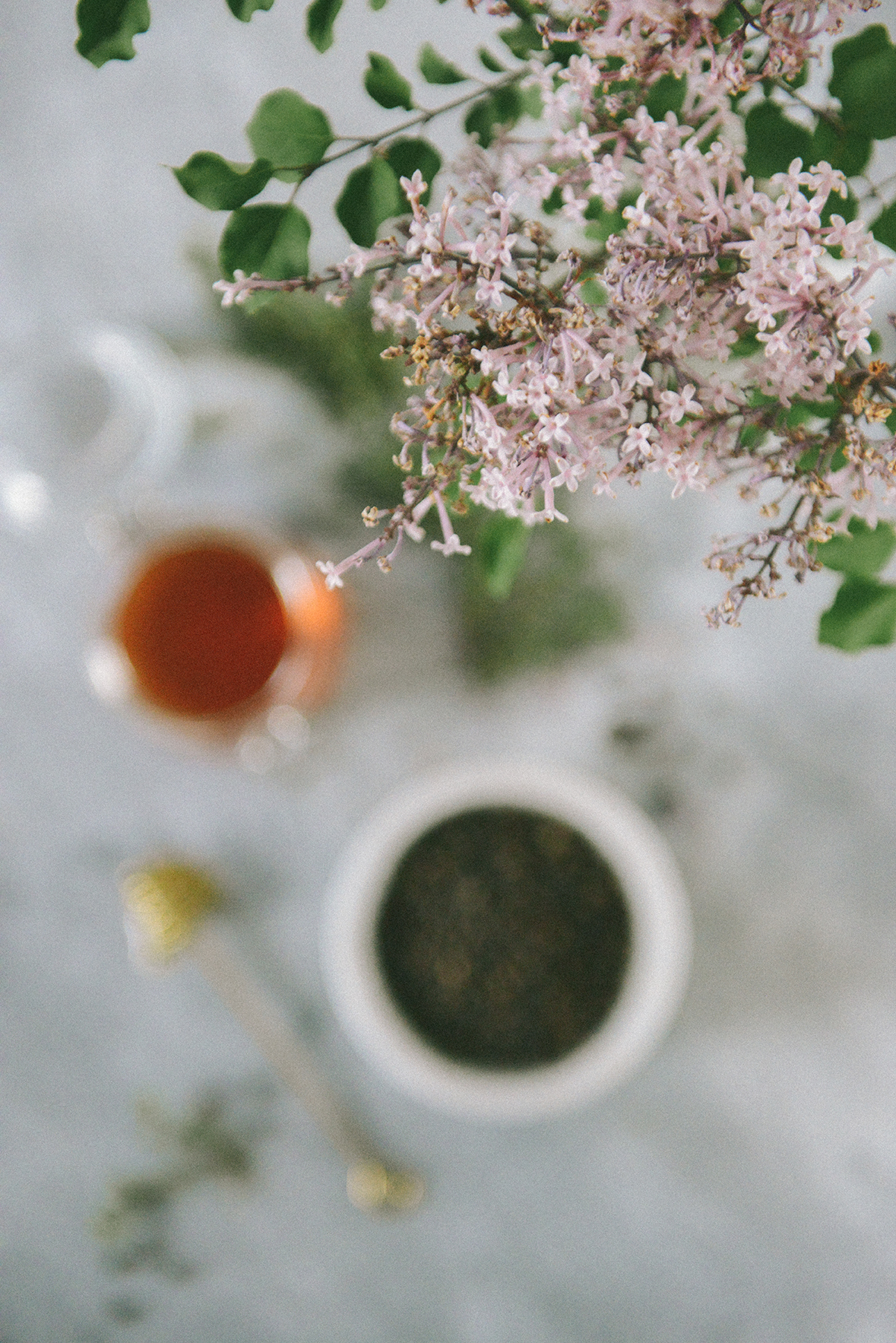 Spring Cocktails & Mocktails & Flowers // www.WithTheGrains.com