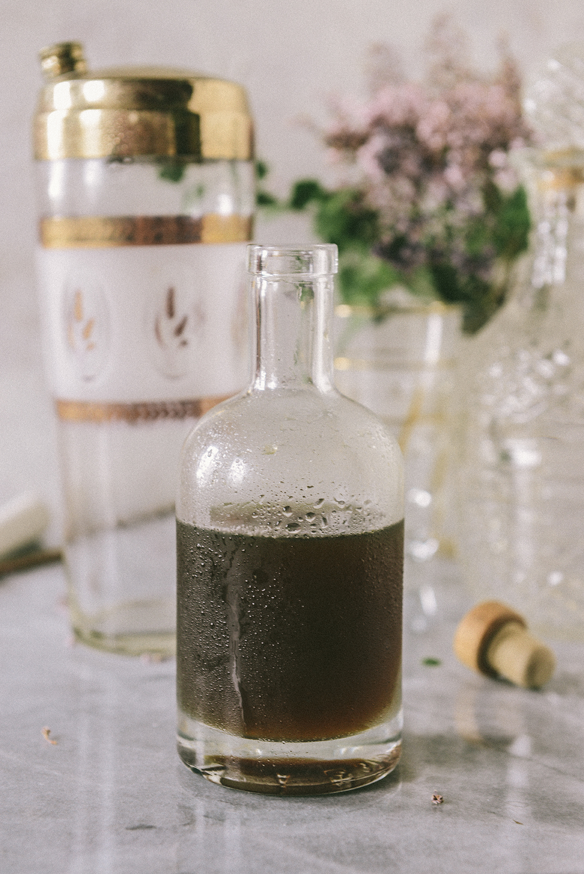 Honey Simple Syrup with Thyme & Black Pepper // www.WithTheGrains.com