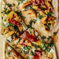 Pie for Dinner: Puff Pastry Tart with Prosciutto & Peaches