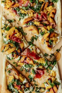 Pie for Dinner: Peach & Prosciutto Puff Pastry Tart // www.WithTheGrains.com