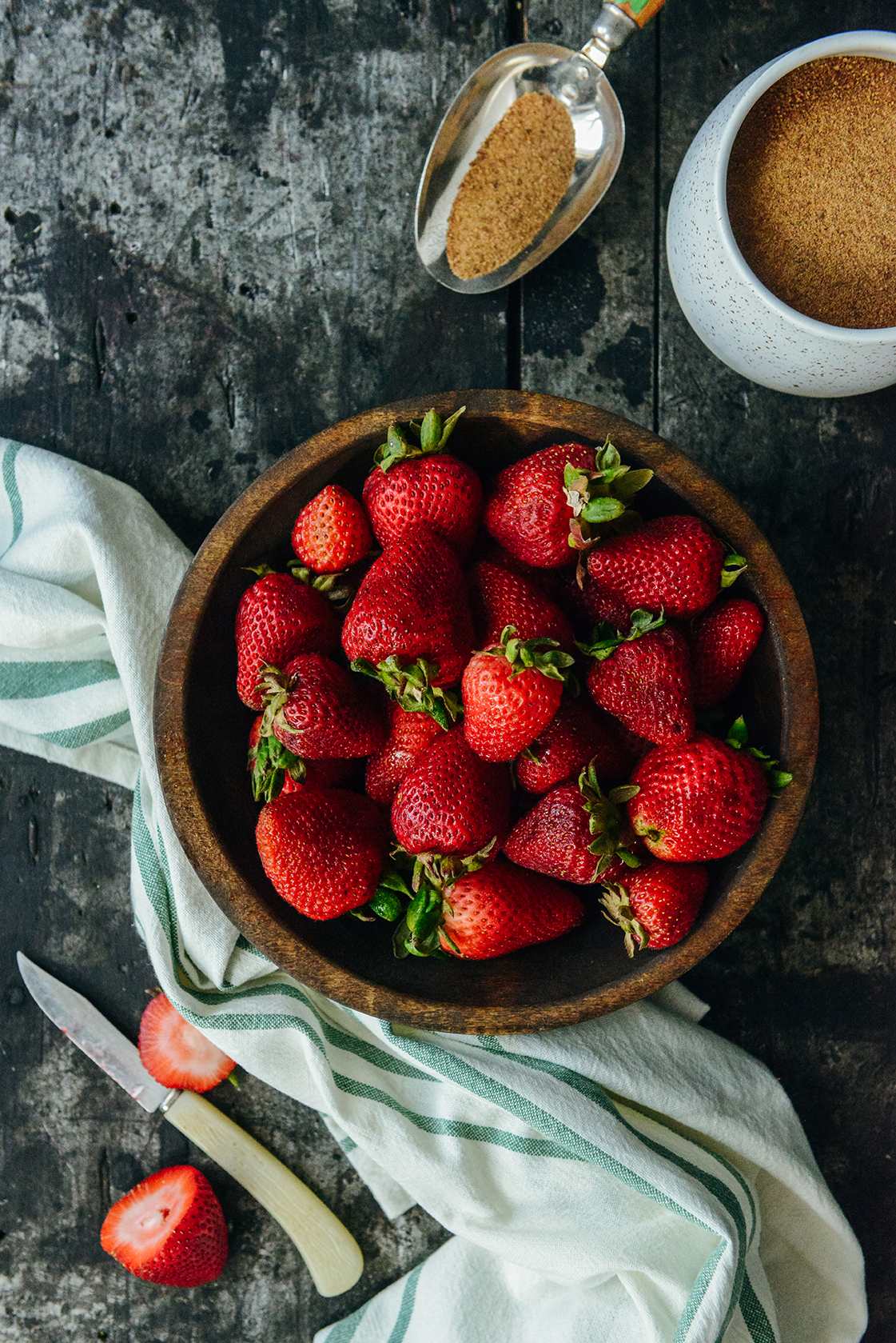 Strawberries for Pie // www.WithTheGrains.com