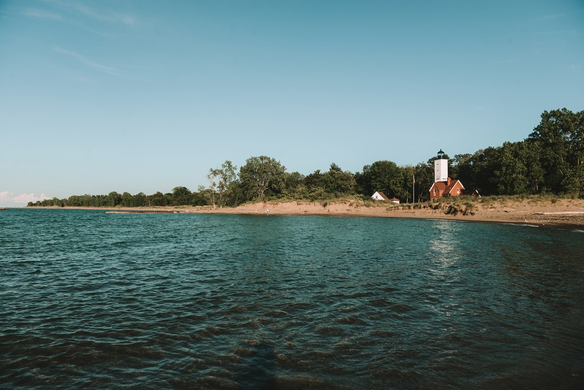 The Light House of Presque Isle State Park // www.WithTheGrains.com