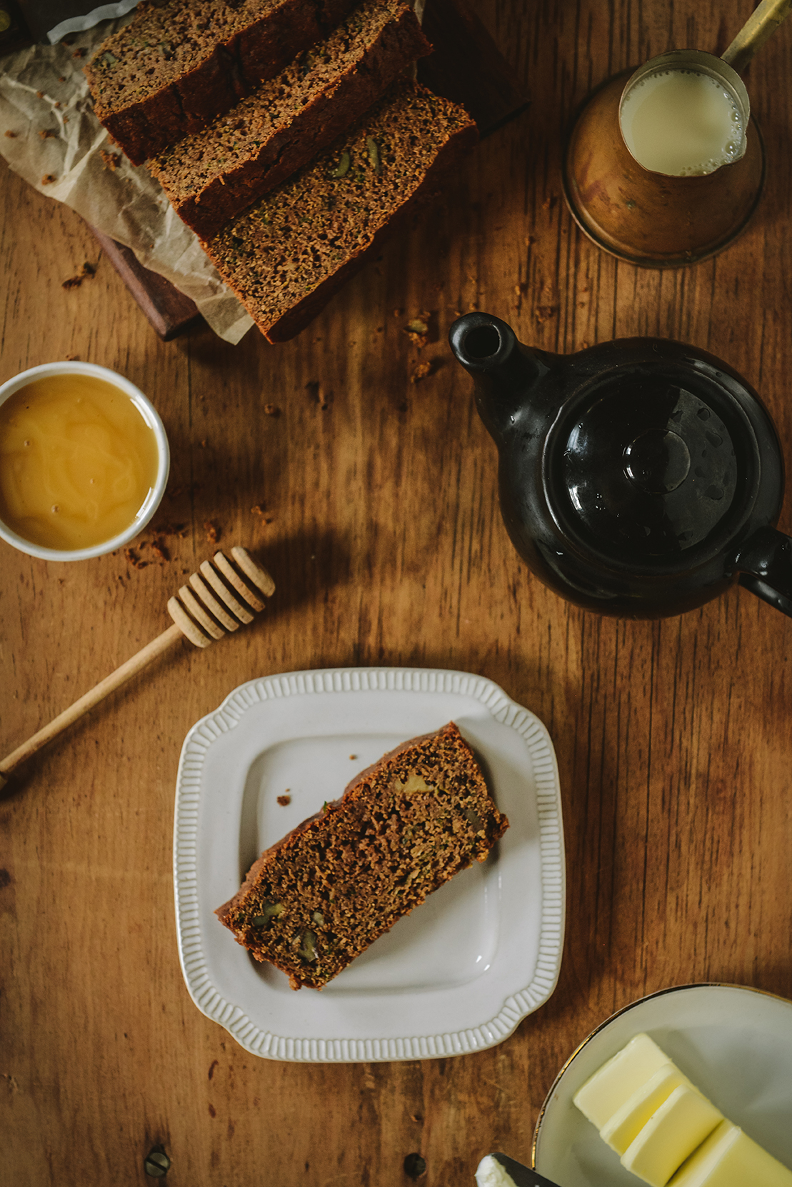 Gluten-Free Zucchini Spice Bread with Tahini & Cardamom // www.WithTheGrains.com