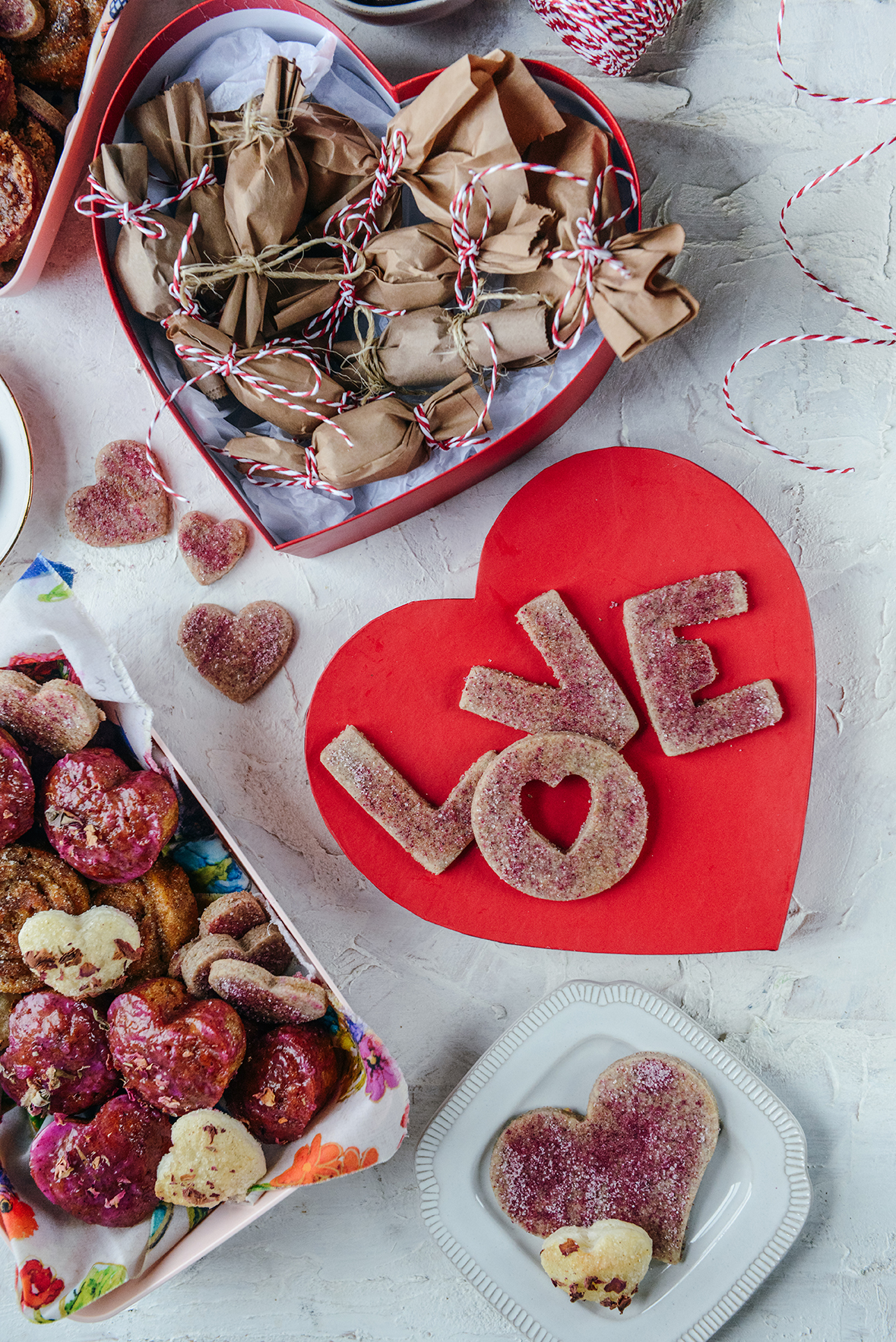 Sending Love: Valentine's Day Parcels with Swedish Rye Cookies, Jam Shortbread & More! // www.WithTheGrains.com
