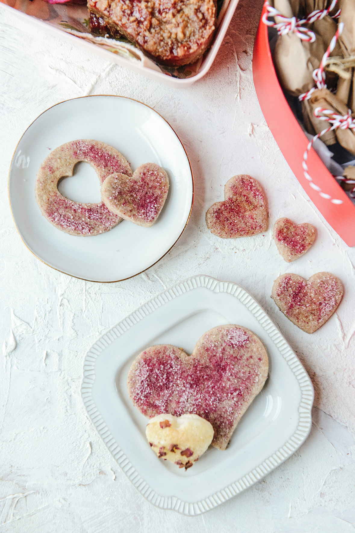 Swedish Sugar Cookies with Pink Pitaya Sugar // www.WithTheGrains.com