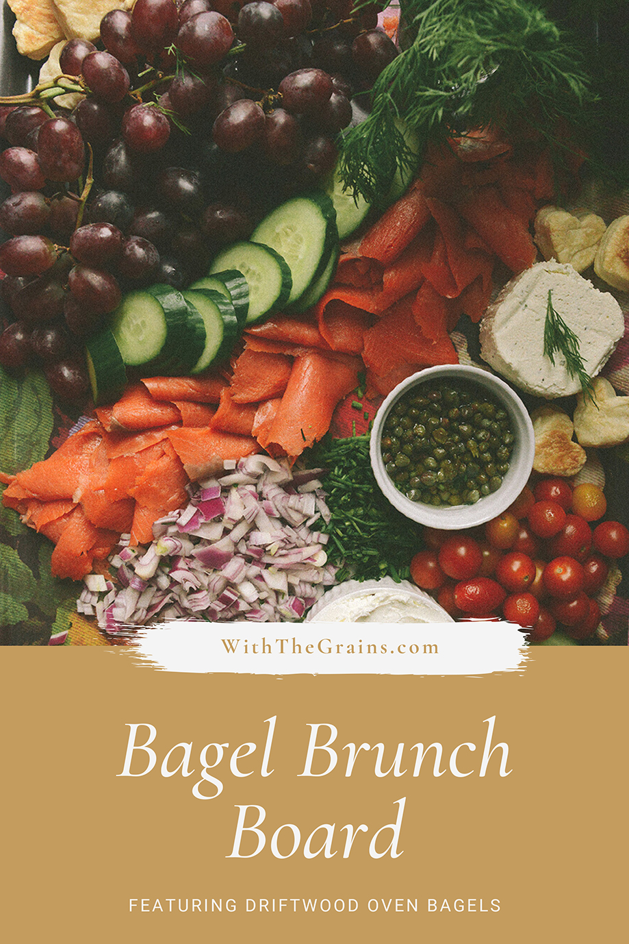 A Bagel Brunch Board to Celebrate Valentine's Day // www.WithTheGrains.com
