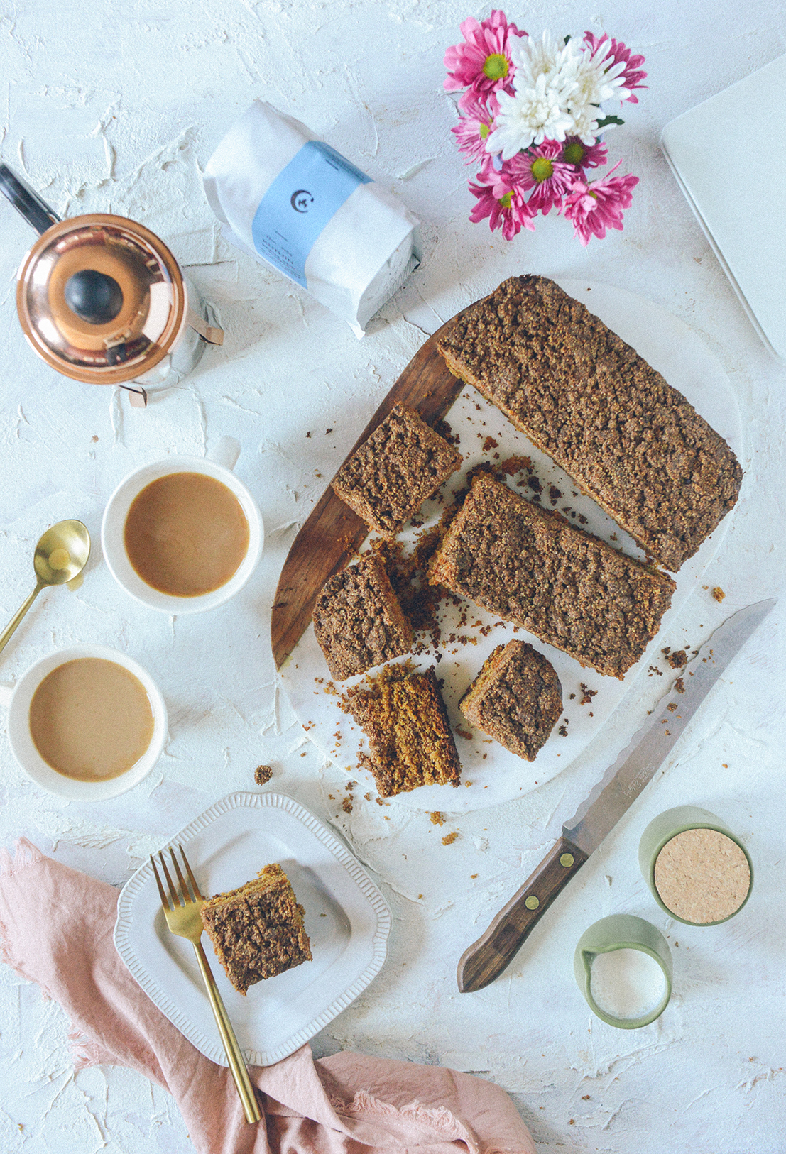 Gluten-Free Coffee Cake with Browned Butter Streusel