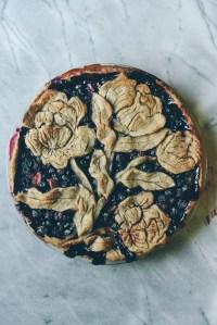 Balsamic Berry Pie // www.WithTheGrains.com