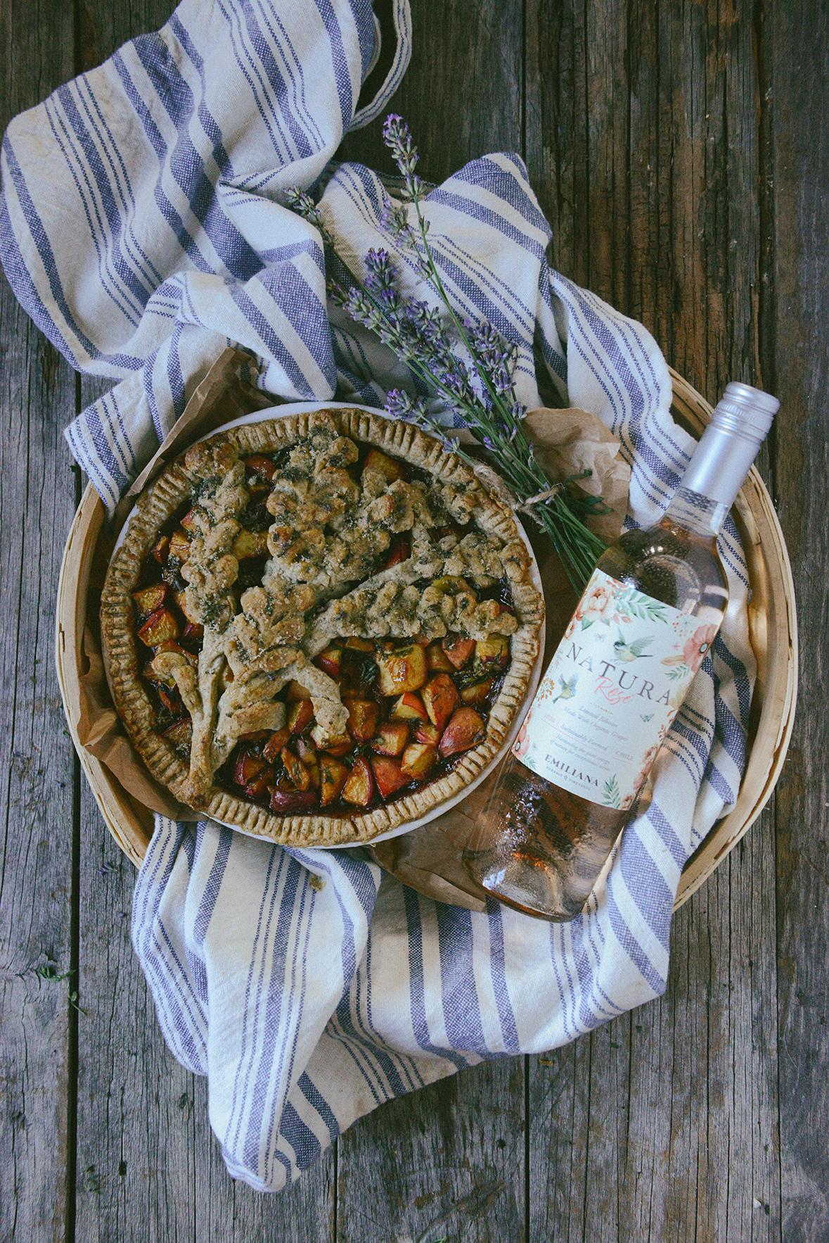Nectarine Pie with Lavender & Tarragon (Whole-Grain & Gluten-Free) // www.WithTheGrains.com
