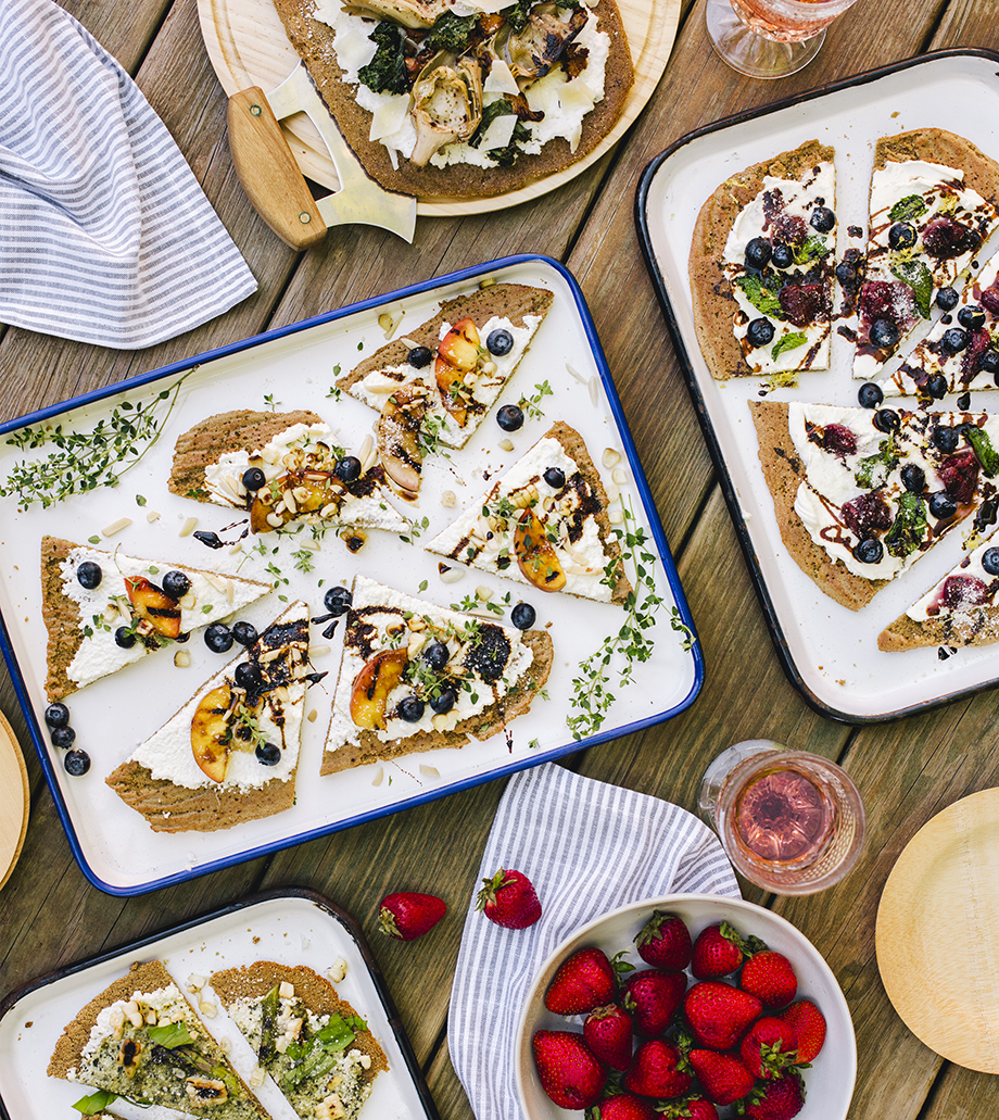 Bring Your Own Toppings Brunch Flatbreads // The Gluten-Free Grains Cookbook // www.WithTheGrains.com