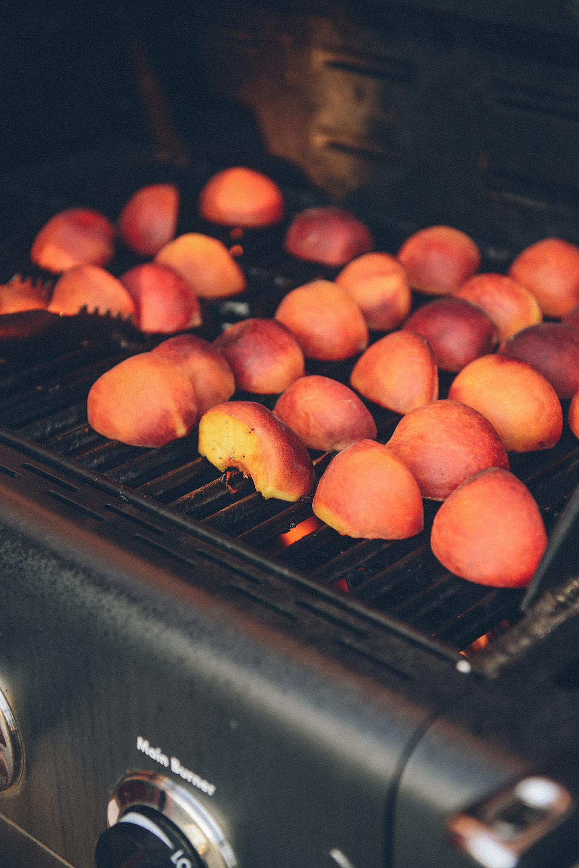 Grilling Nectarines for Pasta // www.WithTheGrains.com
