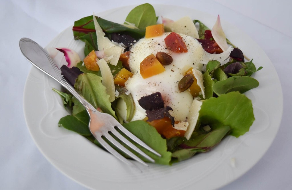 full beet and egg salad