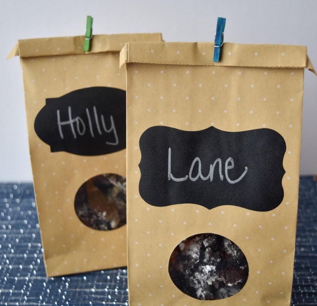 Truffle Cookies in gift bags