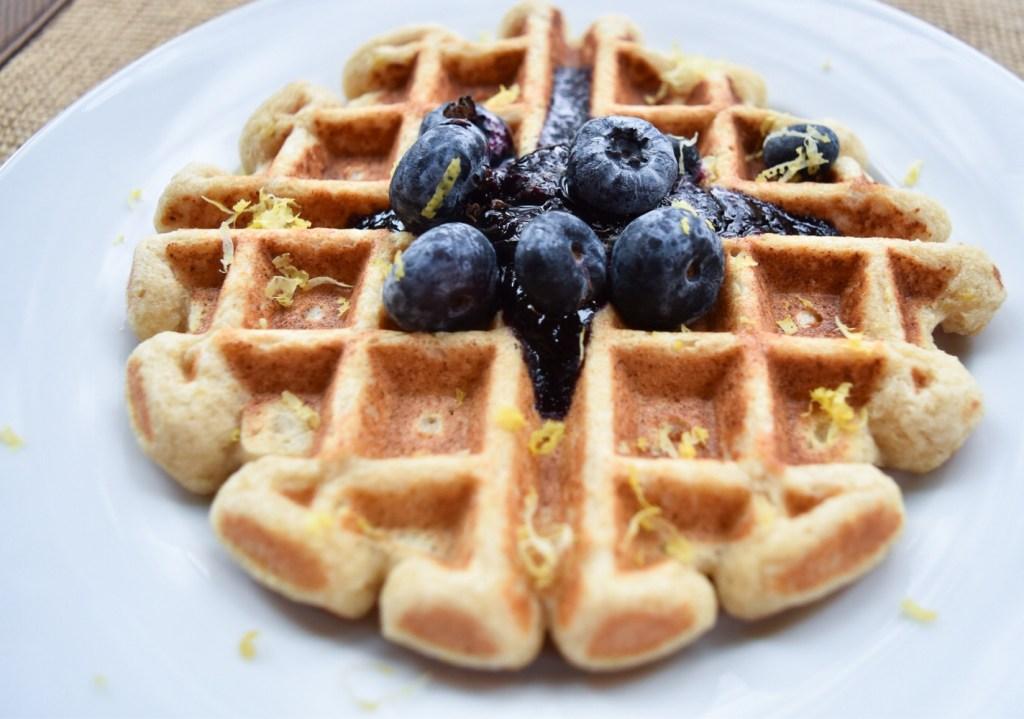 Waffles up close