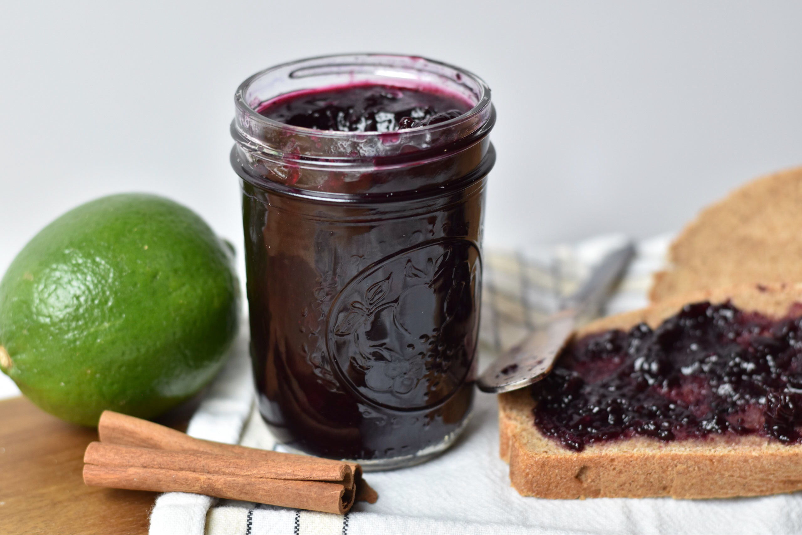 Blueberry Jam with Lime