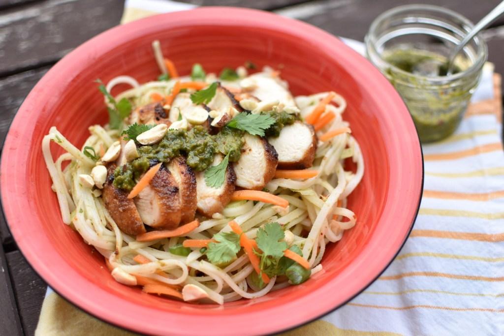Thai Basil Pesto Noodles
