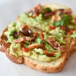 Avocado Toast with Bacon and Sriracha